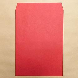 画像1: 角2/カラー85 レッド/金or銀1色印刷/2,500枚