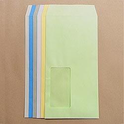 画像1: 長3窓付/Kカラー85/〒枠なし/黒1色印刷/8,000枚