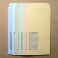 画像1: 長3窓付/ミエナイカラー80/〒枠なし/DIC指定1色印刷/2,000枚