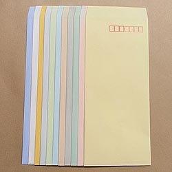 画像1: 長4/ECカラー80/〒枠あり/DIC指定1色印刷/7,000枚