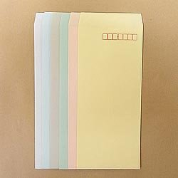 画像1: 長4テープ付/ECカラー80/〒枠あり/基本カラー1色印刷/1,000枚