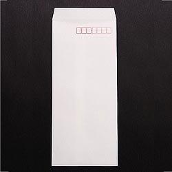 画像1: 長4テープ付/ケント80/〒枠あり/DIC指定1色印刷/30,000枚