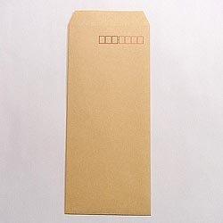 画像1: 長4テープ付/クラフト85/〒枠あり/基本カラー1色印刷/6,000枚