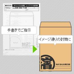 画像1: 版下(レイアウト)作成オプション/オリジナル封筒