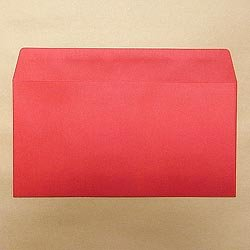 画像1: 洋0(洋長3)/カラー85 レッド/〒枠なし/金or銀1色印刷/1,000枚