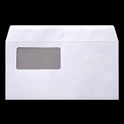 画像1: 洋0(洋長3)窓付/透けないケント100/〒枠なし/DIC指定1色印刷/5,000枚